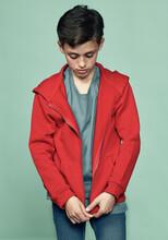 Boy Zipping Sports Jacket