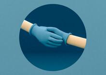 Handshake With Gloves