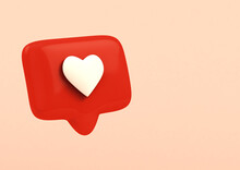 Social Network Love Icon On Pi...