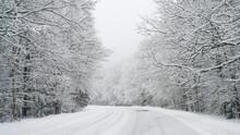 Snow On The Kancamagus Highway