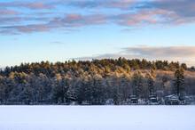 Morning Light Over Fresh Snow