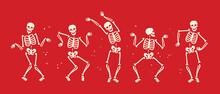 Funny Skeleton Symbol. Hallowe...