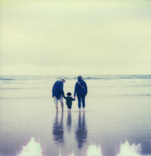 Polaroid Photo Of A Family At ...