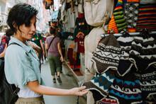 Woman In The Street In Kathmandu
