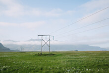 Transmission Towers In Iceland