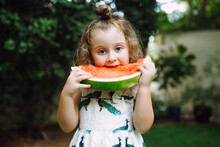 Little Girl With A Watermelon