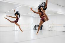 Black Woman Dancer Training In...