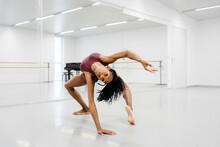 Black Woman Dancer Training Indoors