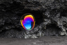 Rainbow Coloured Soap Bubble A...