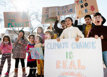Kids Protesting For Climate Change