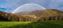 Double Rainbow Over Valley