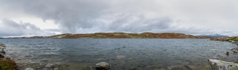 Skiftessjøen lake in the Hardangervidda National Park in Norway