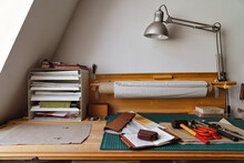 Master's Workplace In A Leathe...