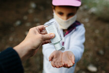 Hand-sanitizing