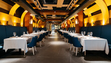 Empty Modern Fine Dining Resta...