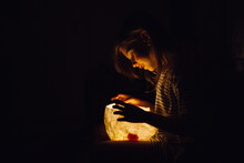 A Girl With A Hand Made Lamp I...