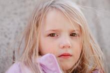 Portrait Of Sad Child, Crying