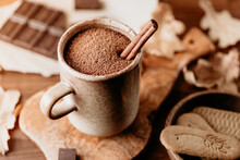 Close-up Of Hot Chocolate In A...