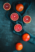 Flat Lay Food Composition With...