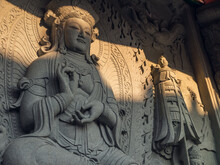 Religious Carving At Po Lin Mo...