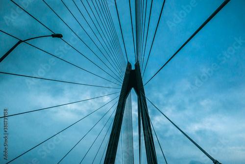 sight under a suspension bridge Fototapeta