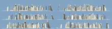 City Expanding Concept, Set Of...