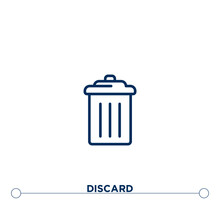 Discard Outline Vector Icon. T...