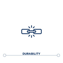 Durability Outline Vector Icon. Thin Line Black Durability Icon. Flat Vector Simple Element Illustration. Editable Vector Stroke Durability Icon On White Background