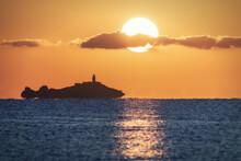 Majestic View Of Orange Sunset...