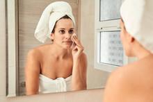 Charming Female In Towel Turba...
