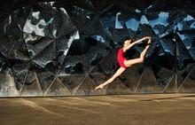 Side View Of Flexible Ballerin...