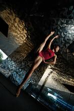 From Below Of Slim Ballerina I...