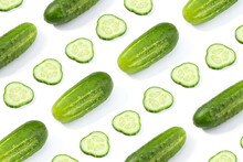 Cucumber Pattern Isolated On W...