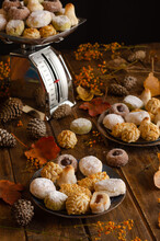 Various Delicious Panellets Ar...