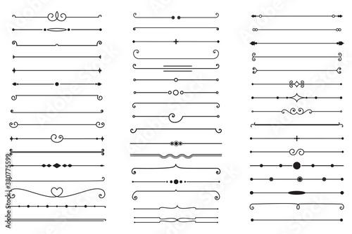 Fototapeta Big Set of Decorative Text Dividers. Stock Vector obraz