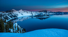 Crater Lake Just Before Sunris...