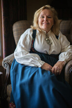 Norwegian Wonan In Her Traditional Dress
