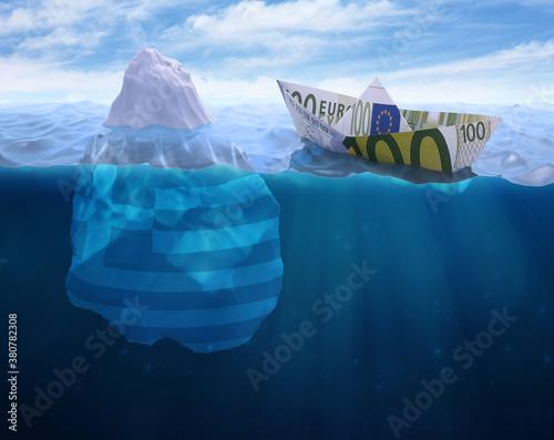 iceberg in polar regions Fotobehang