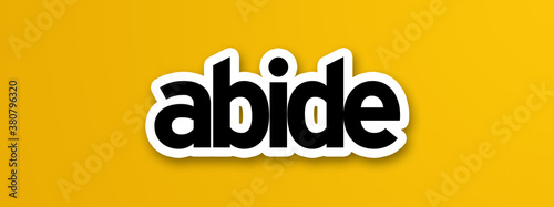 abide in yellow background Wallpaper Mural