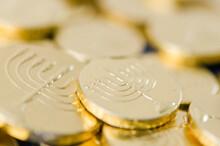 Chanukah Gelt Pile (gold Chocolate Coins)