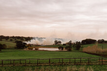 Fire Burning On A Rural Property