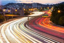 Traffic Light Blur On Highway ...