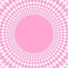 Geometric Art Abstract Pink Fo...