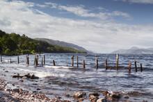 Dores Beach On Loch Ness. Scotland.