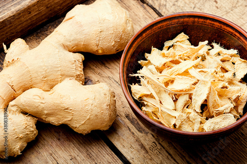 Stampa su Tela Fresh and dried ginger