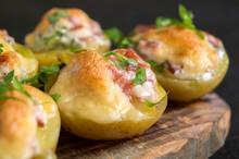 Hot Baked Stuffed Potatoes Wit...