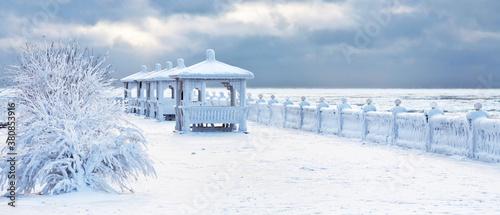 Fotomural Baikal Lake in December frost