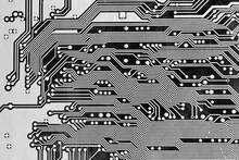 Circuit Board Macro Art