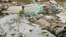Water Pollution - Rubbish Garbage With Water - 4