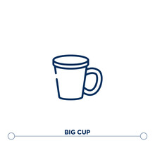 Big Cup Outline Vector Icon. S...